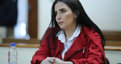 Colombia's former senator Aida Merlano takes part in a hearing in a court in Caracas, Venezuela February 6, 2020. Miraflores Palace/Handout via REUTERS ATTENTION EDITORS - THIS PICTURE WAS PROVIDED BY A THIRD PARTY.